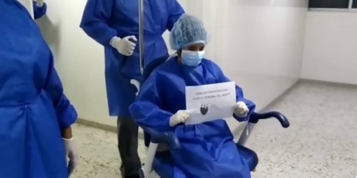 ¡Buena noticia! Niña de 12 años salió de UCI venciendo al coronavirus