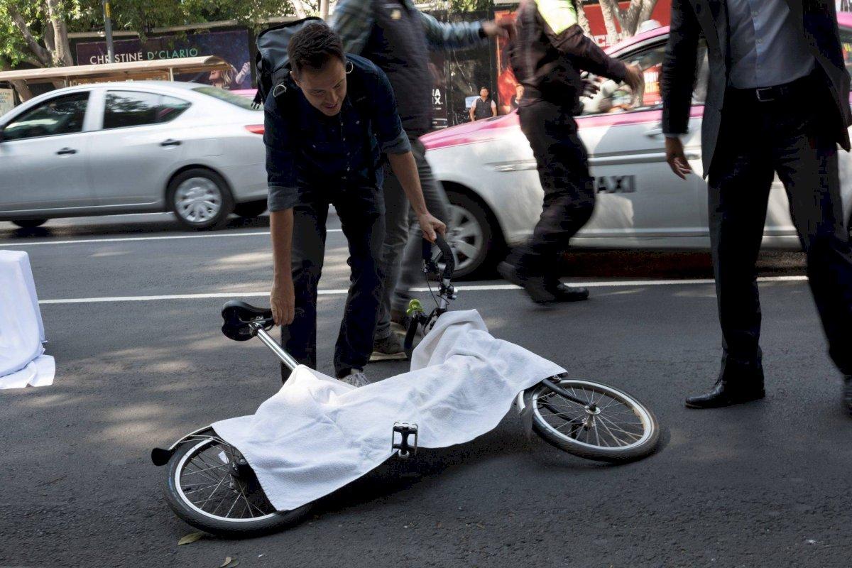 Apenas la semana pasada un ciclista murió atropellado. Foto: Cuartoscuro