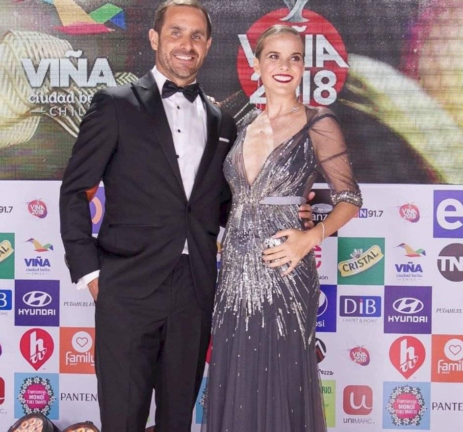 Foto Instagram: Cristián Arriagada junto a Javiera Suárez