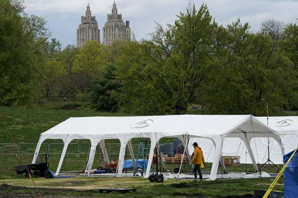 Hospital de campaña en Central Park