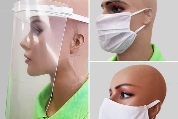 Os modelos de máscaras produzidos pelos detentos