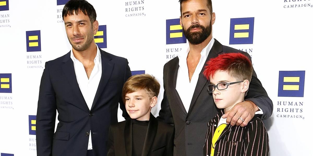 Ricky Martin publica fotos inéditas de sus cuatro hijos con su madre