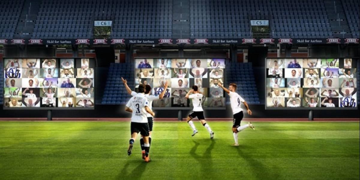 ¡Hincha de TV! En Dinamarca podrán alentar a su equipo vía Zoom