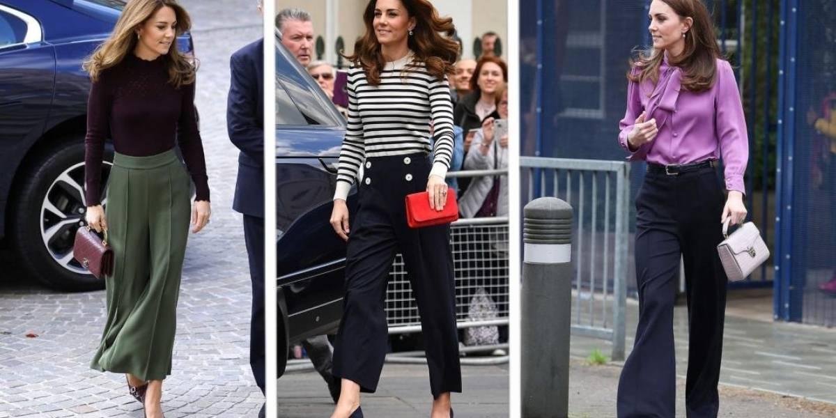 O segredo de Kate Middleton ao usar calça boca de sino que você deve saber