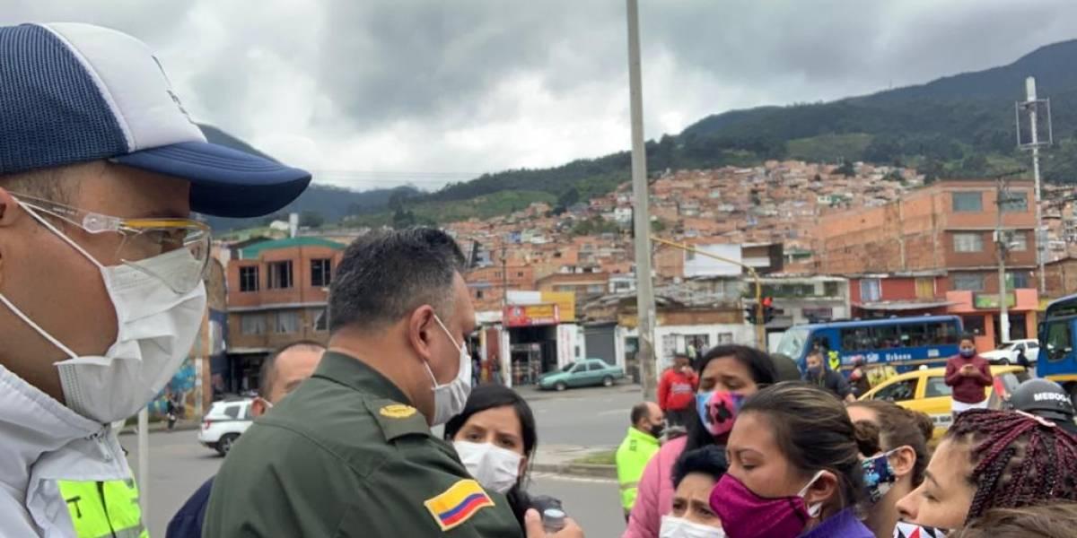 Las estaciones de policía y URI de Bogotá, hacinadas y en riesgo de contagio masivo