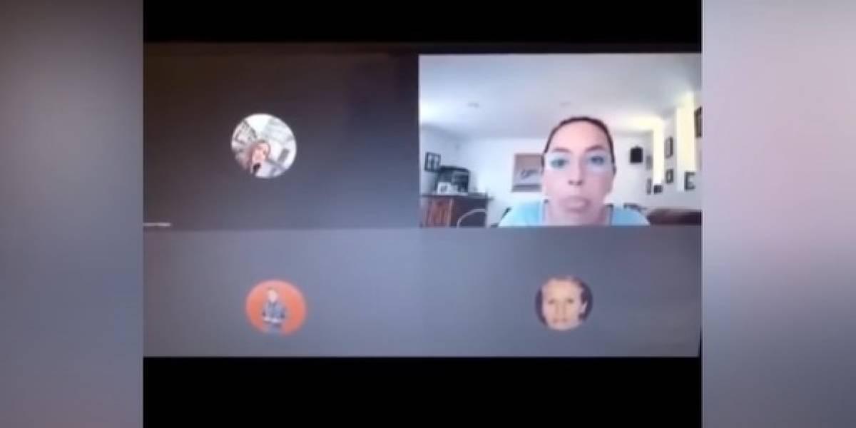 VIDEO. Maestra insulta a sus alumnos porque pensó que ya había colgado la videollamada