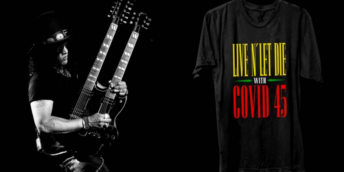 Guns N' Roses critica Trump em camiseta oficial: 'Live and Let Die... With Covid'