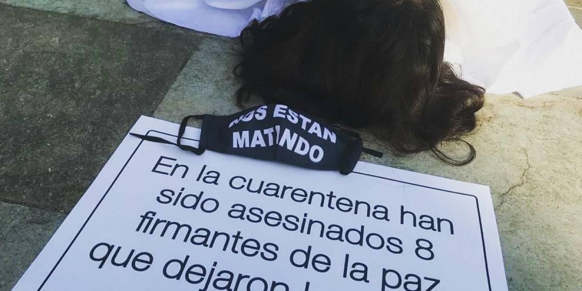 Fotos: Ciudadanos protestaron por el incremento de asesinatos de líderes sociales