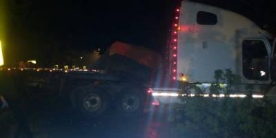 accidente de cabezal en Km. 19 de ruta Interamericana