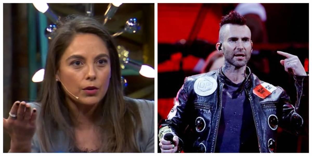 """Ángeles Araya recuerda encuentro con Adam Levine: """"Nadie lo podía mirar"""""""
