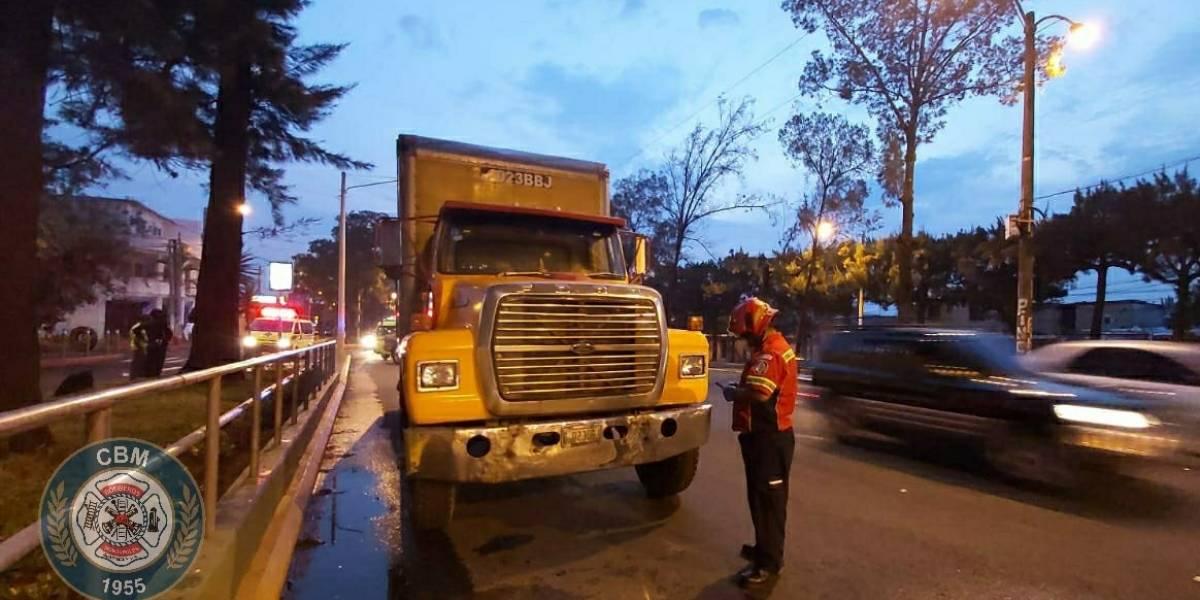 Disparan contra ocupantes de camión recolector de basura en zona 7