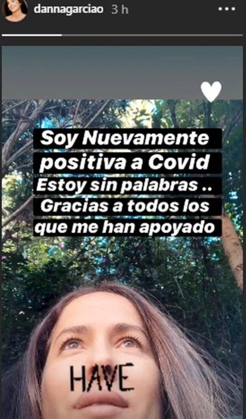 El mensaje de Danna García