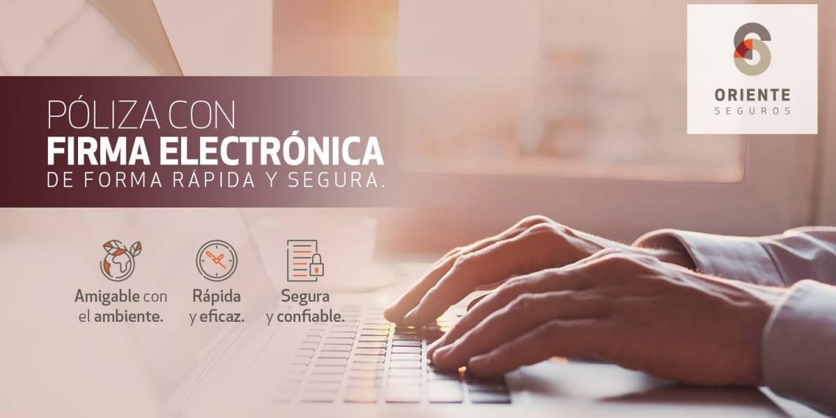 """Oriente Seguros habilita """"firma electrónica"""" en sus pólizas"""