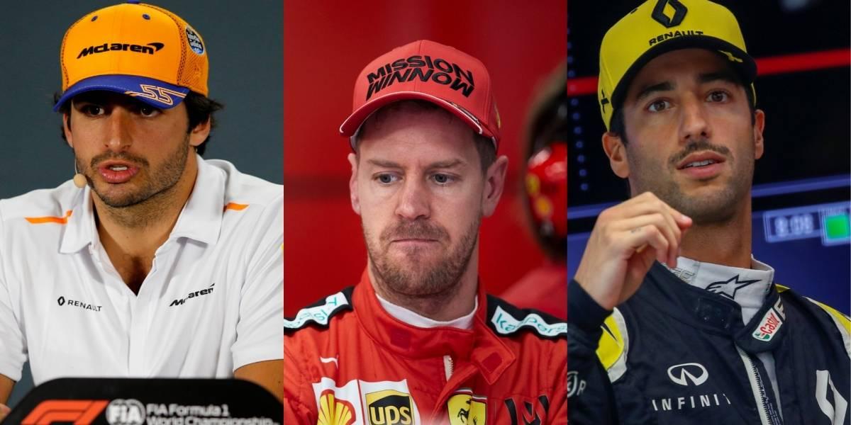 Sainz a Ferrari y Ricciardo a McLaren: los cambios que desencadenó la salida de Vettel