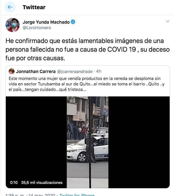 Jorge Yunda Twitter