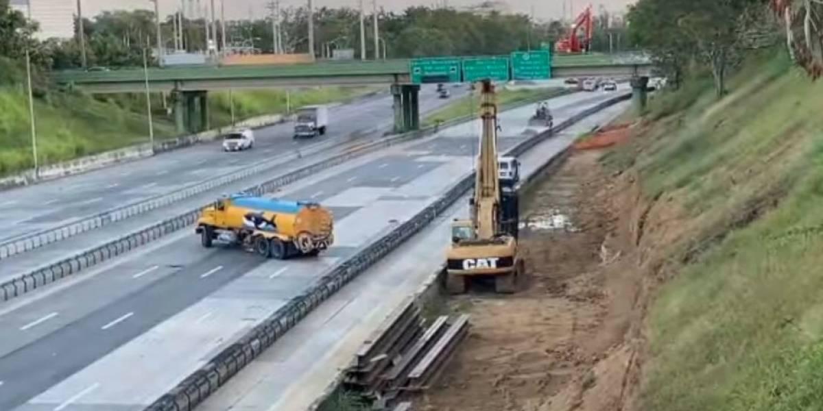 Cierran tramo del expreso Las Américas por demolición puente
