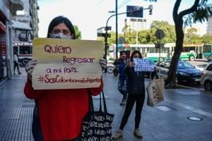 Colombianos protestan en Buenos Aires