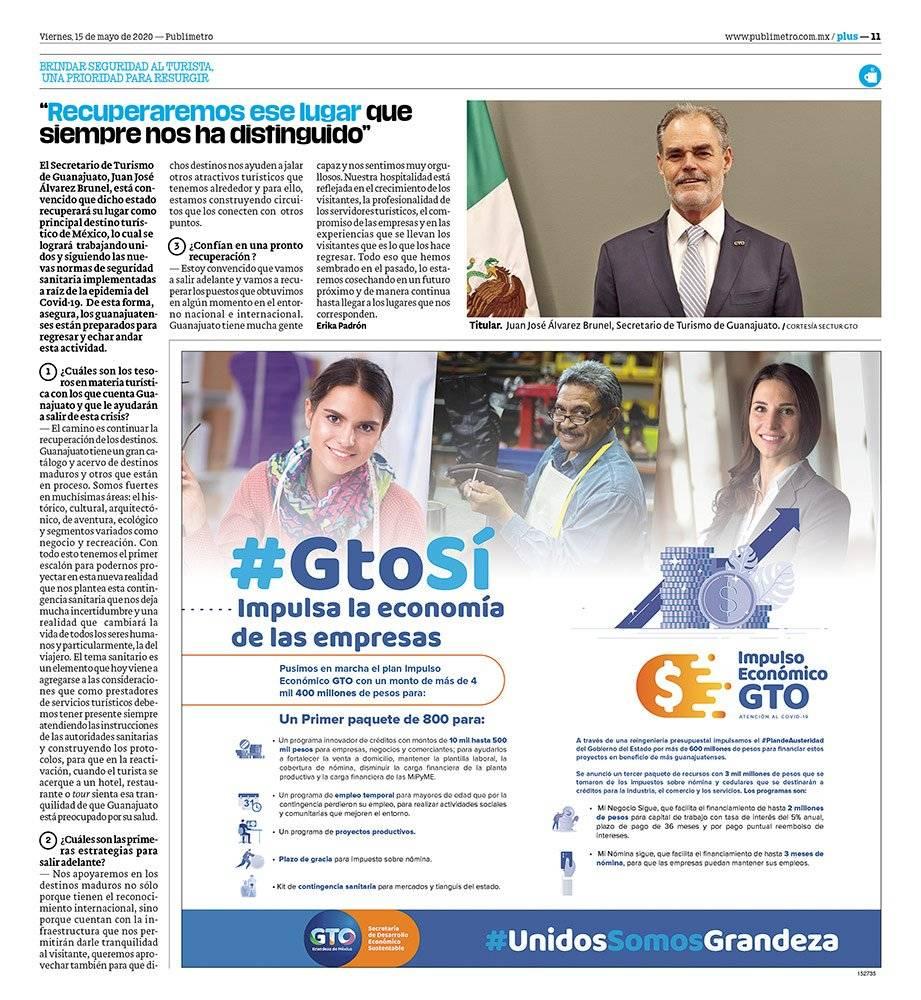 Anuncio Gobierno de Guanajuato edición CDMX del 15 de mayo del 2020, Página 11