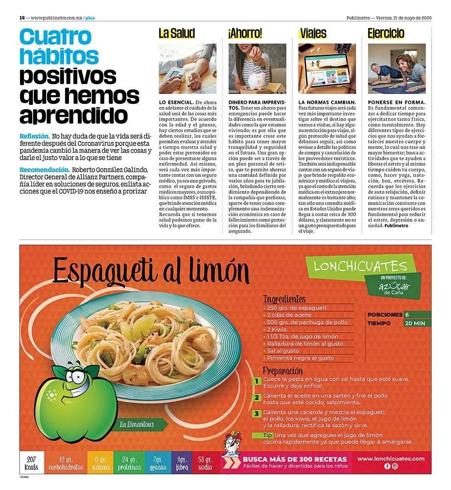 Anuncio Azúcar de caña edición CDMX del 15 de mayo del 2020, Página 14