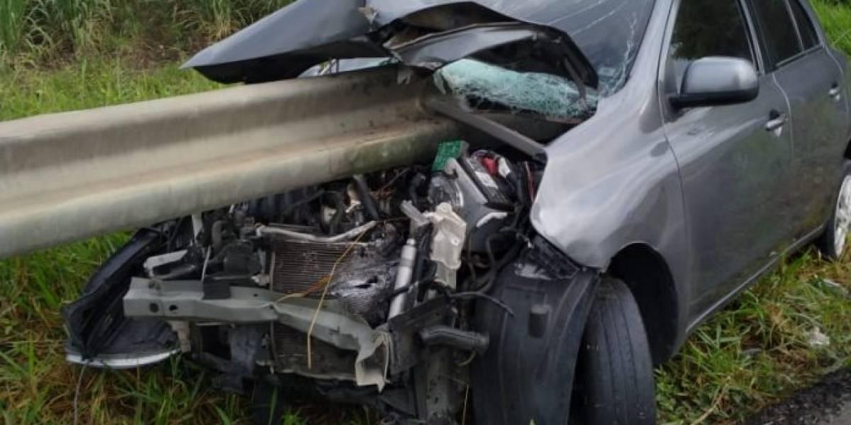 ¿Fue un milagro? Esto le sucedió a conductor de vehículo involucrado en aparatoso accidente