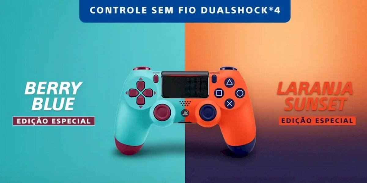 Novas cores do controle DualShock 4 para PlayStation 4 chegam ao Brasil