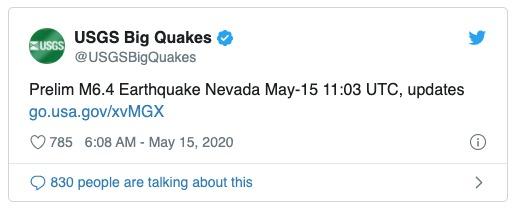 Terremoto Estados Unidos