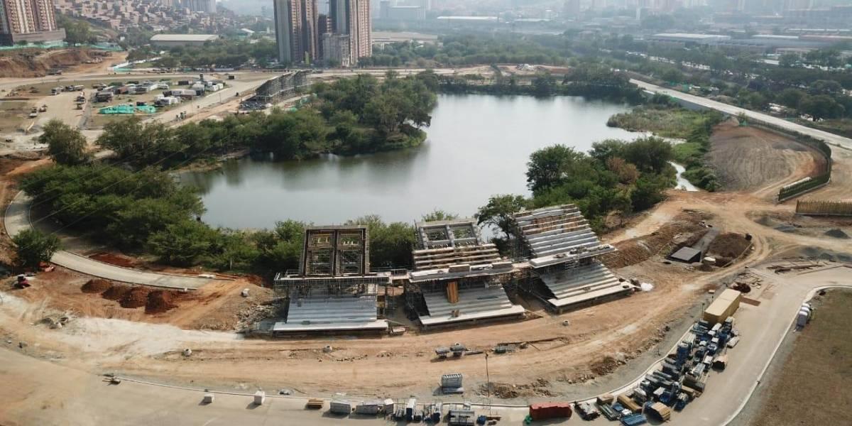 Reinician las obras de construcción del Central Park en el norte de Medellín
