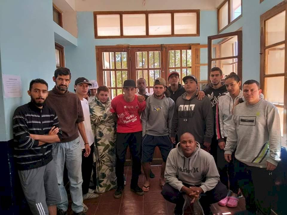Hinchas del DIM en Argentina