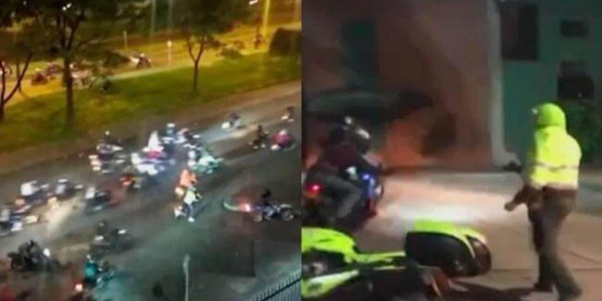 Piques ilegales en medio de la pandemia: vuelven los motociclistas a enfrentarse con la Policía