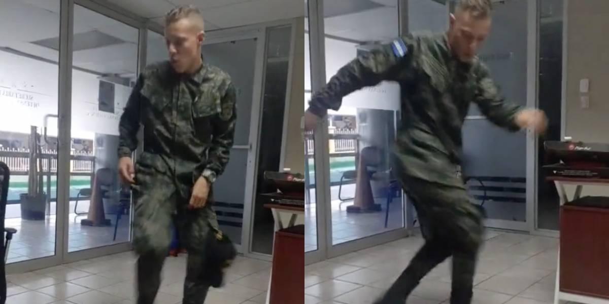 Militar hondureño fue dado de baja por bailar en Tik Tok