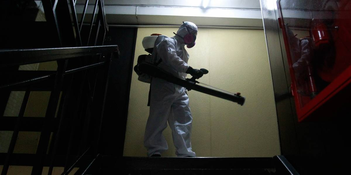Con nanopartículas de cobre: Municipalidad de Santiago sanitizó las torres San Borja