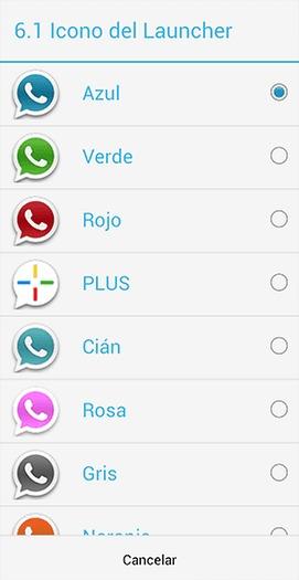 WhatsApp cambiar color