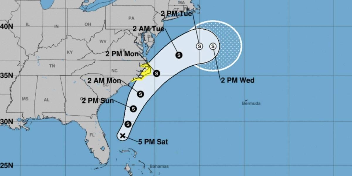 Sistema de baja presión cobra fuerza en costas de Florida