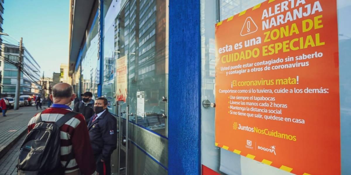 ¡Atención! Anuncian dos nuevas zonas en alerta naranja en Bogotá