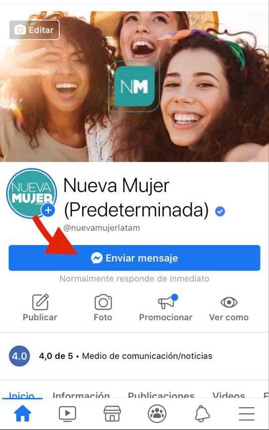 Messenger Nueva Mujer