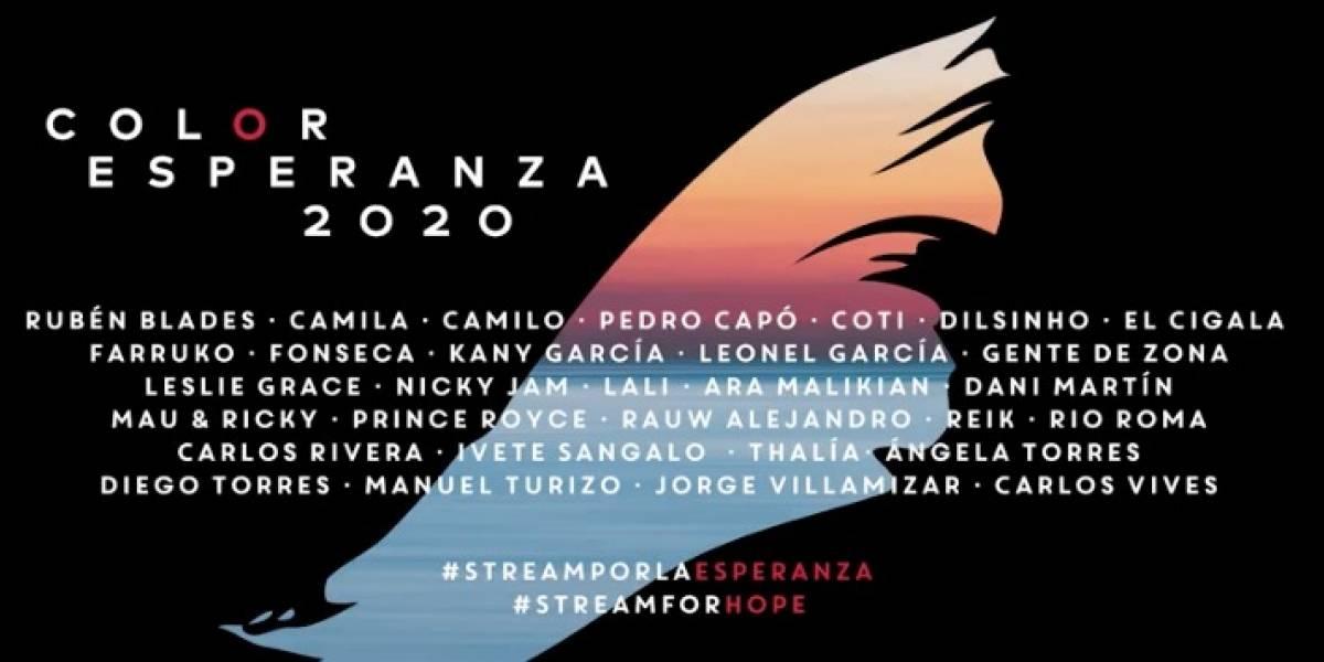Junte de artistas lanza nueva versión de 'Color de Esperanza'