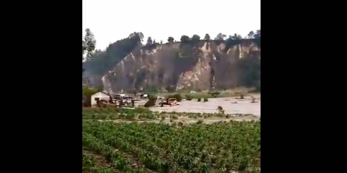 VIDEO. Desbordamiento del río Samalá provoca inundación súbita en Quetzaltenango