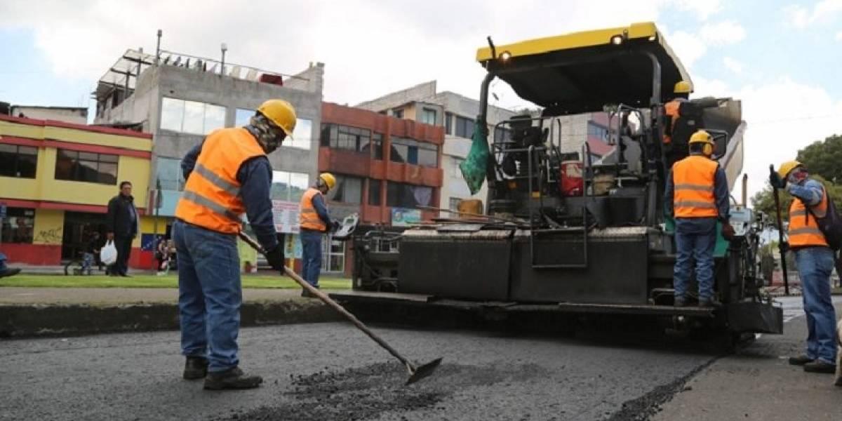Este lunes 18 de mayo reiniciaron trabajos de repavimentación en Quito