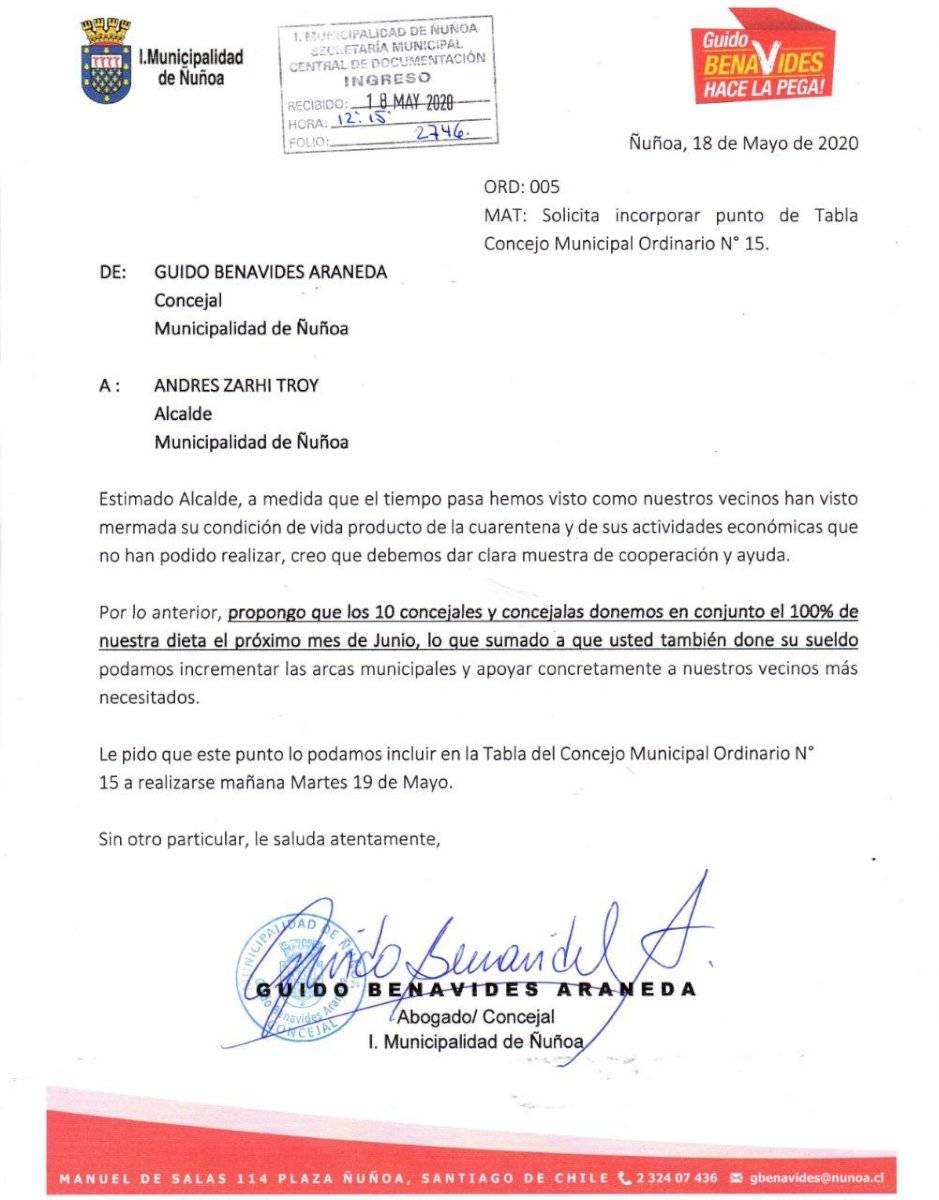 La propuesta del concejal Benavides / Foto: Cedida