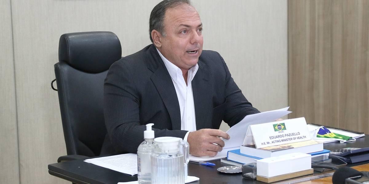 Eduardo Pazuello é oficializado como ministro interino da Saúde