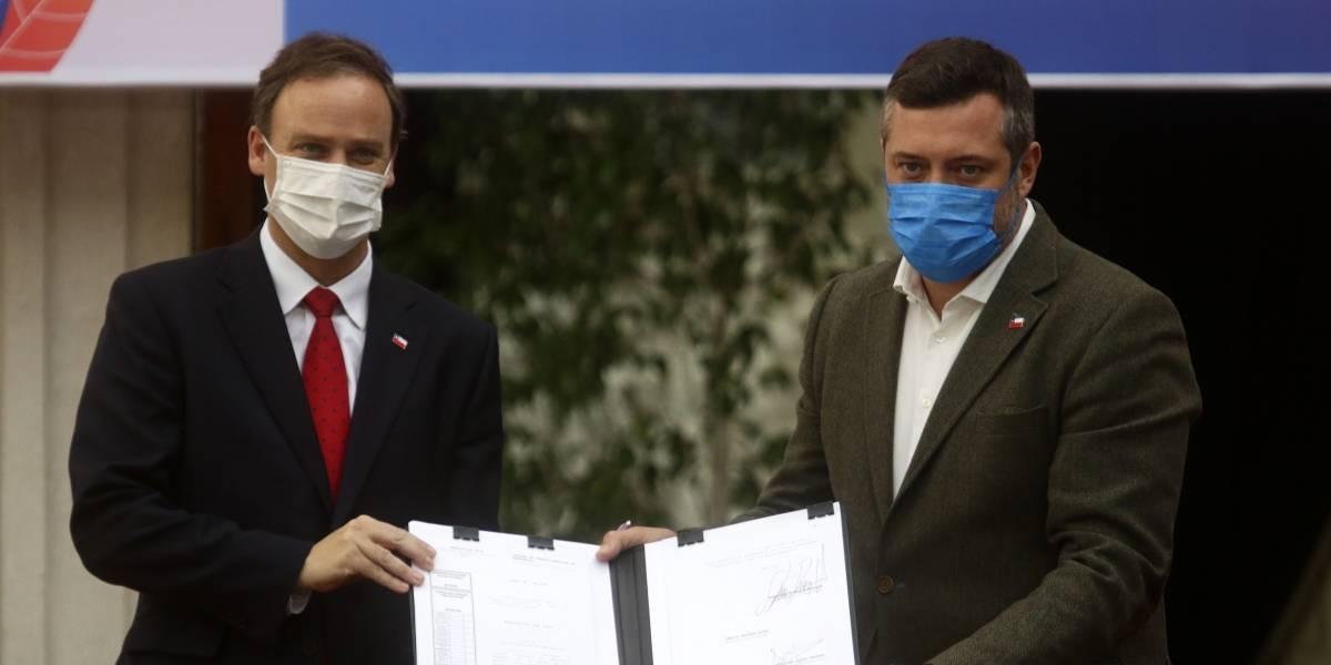 Segundos negativos: Felipe Ward y Sebastián Sichel se reincorporan al trabajo presencial luego de descartar contagio de coronavirus