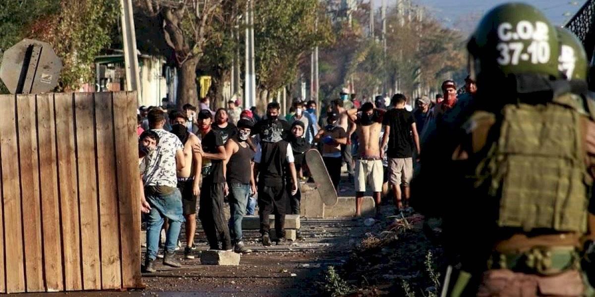 """Gobierno se querelló por protestas en El Bosque: """"Espero que se establezcan medidas cautelares ahora mismo"""""""