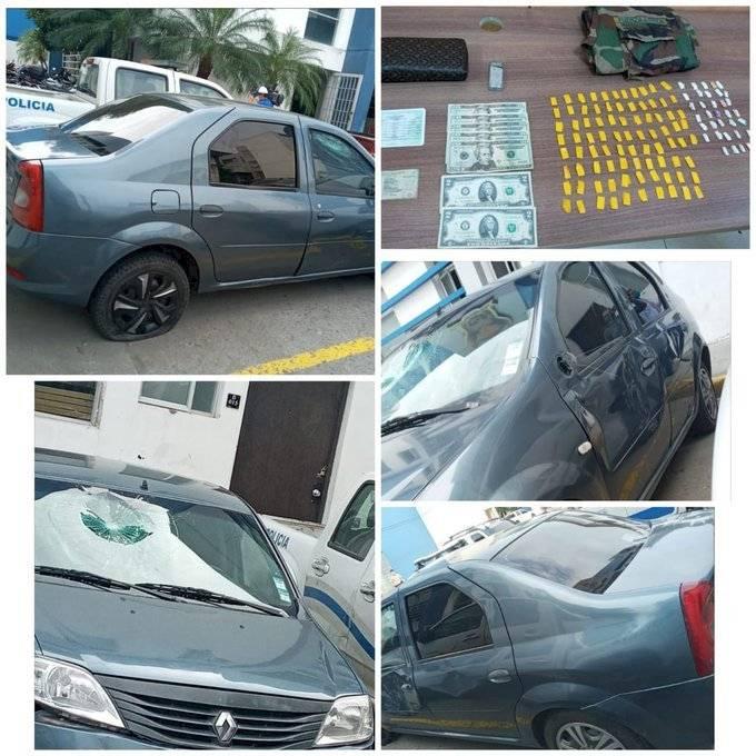 Auto que atropelló a policía llevaba caído
