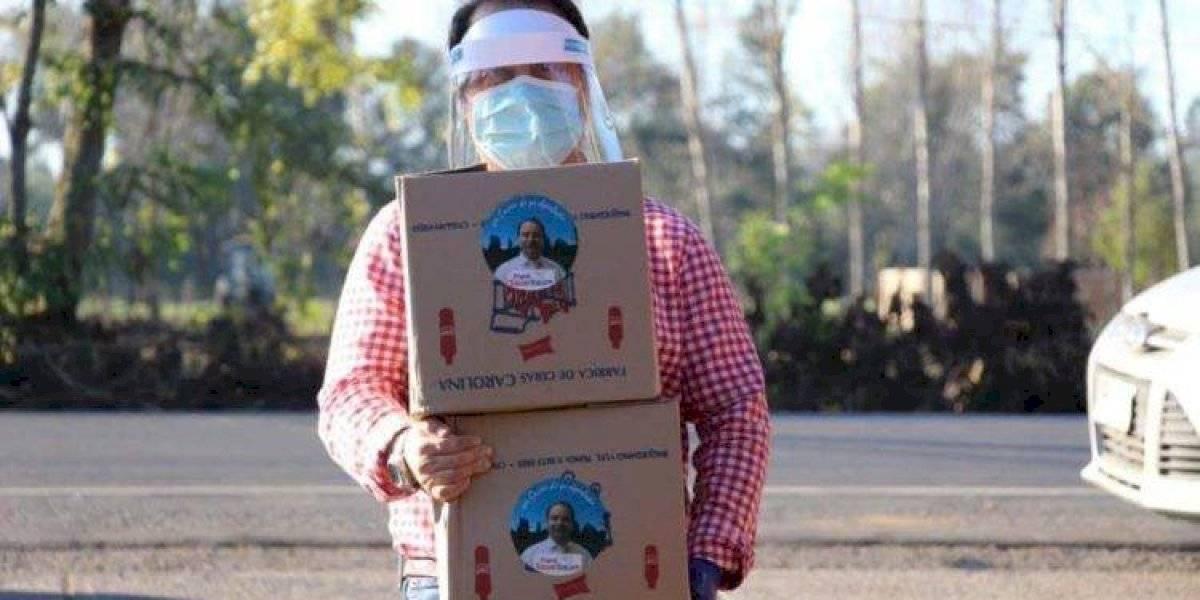 ¿Ayuda o uso electoral? Diputado dona cajas de mercadería con su foto