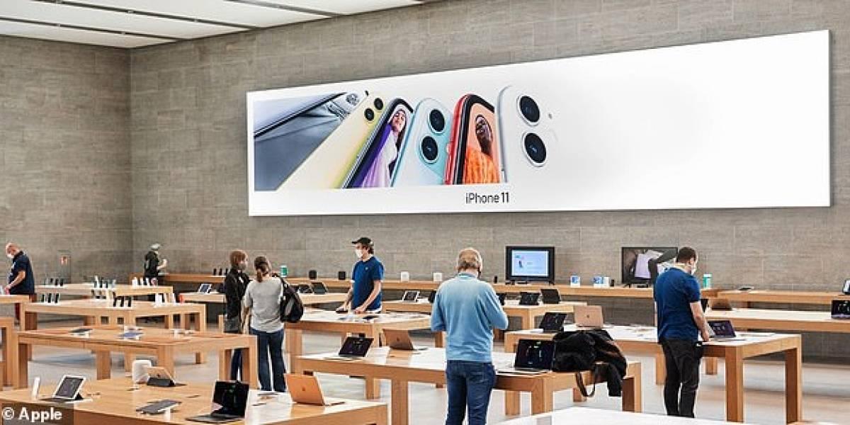 Apple reabrió alrededor de 100 de sus tiendas en el mundo, pero los clientes deben cumplir ciertos requisitos antes de entrar
