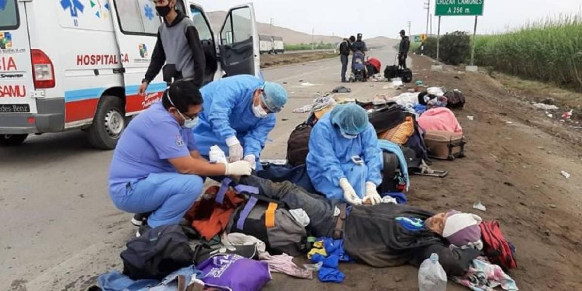 Tres venezolanos fallecieron y cinco resultaron heridos tras ser atropellados en Perú