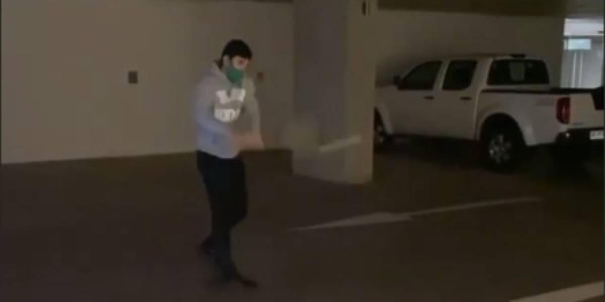 No se aguantó más: El entrenamiento de Cristian Garin en un estacionamiento durante la cuarentena