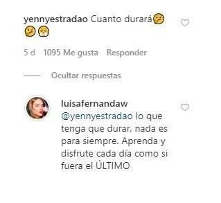 ¡No aguantó más! Luisa Fernanda W les cantó la tabla a los que critican su relación con Pipe Bueno