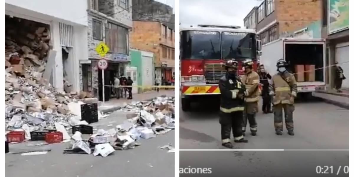 (VIDEO) Terrible escena de supermercado que se desplomó en Bogotá