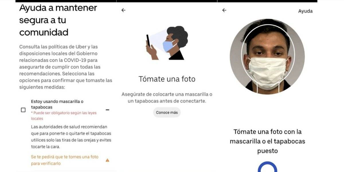Uber presenta tecnología para uso obligatorio de mascarilla por el COVID-19